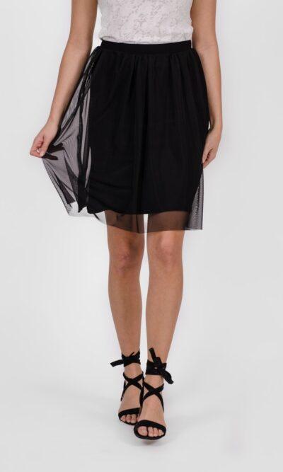 Jupe Arégonde Noir Profond - vêtements femme - designer québécois en ligne - Monarcky