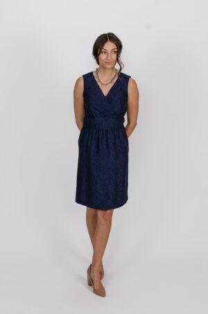 Robe Anne de Bretagne Bleu Symphonie - vêtements québécois - designer de mode - Monarcky