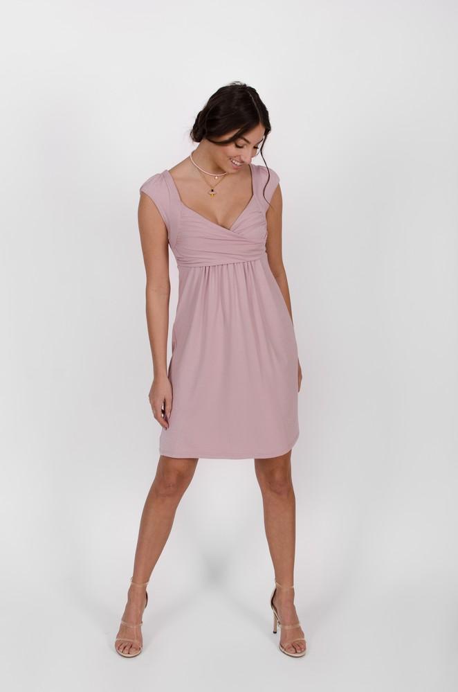 Robe Aliénor Rose Fleur - vêtements fait au Québec - designer de mode - Monarcky