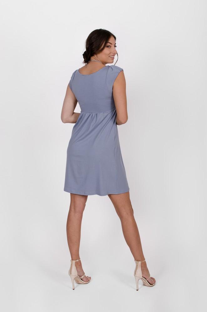 Robe bleu azur-Aliénor - designer québécois en ligne - vêtements femme - Monarcky