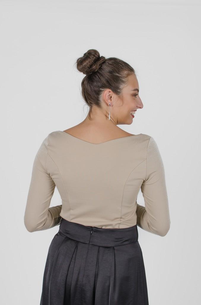 Chandail Mary Beige et kaki - vêtements femme - designer québécois - Monarcky