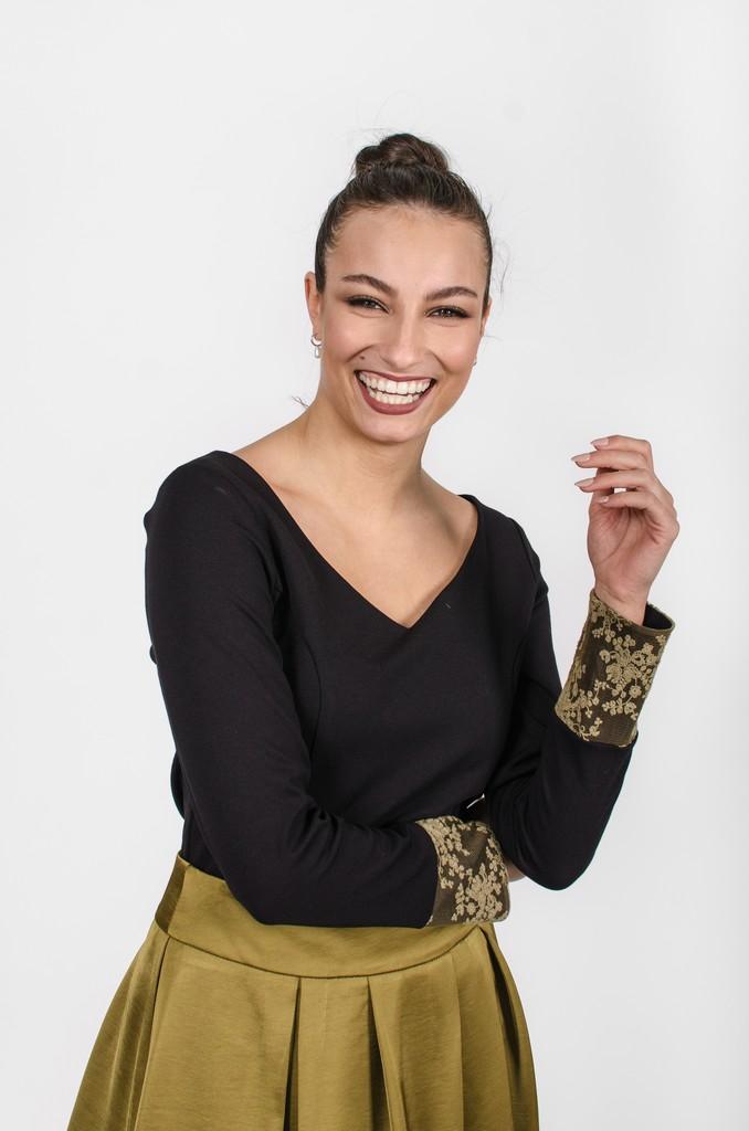 Chandail Mary noir profond - vêtement femme automne-hiver 2020 - Monarcky