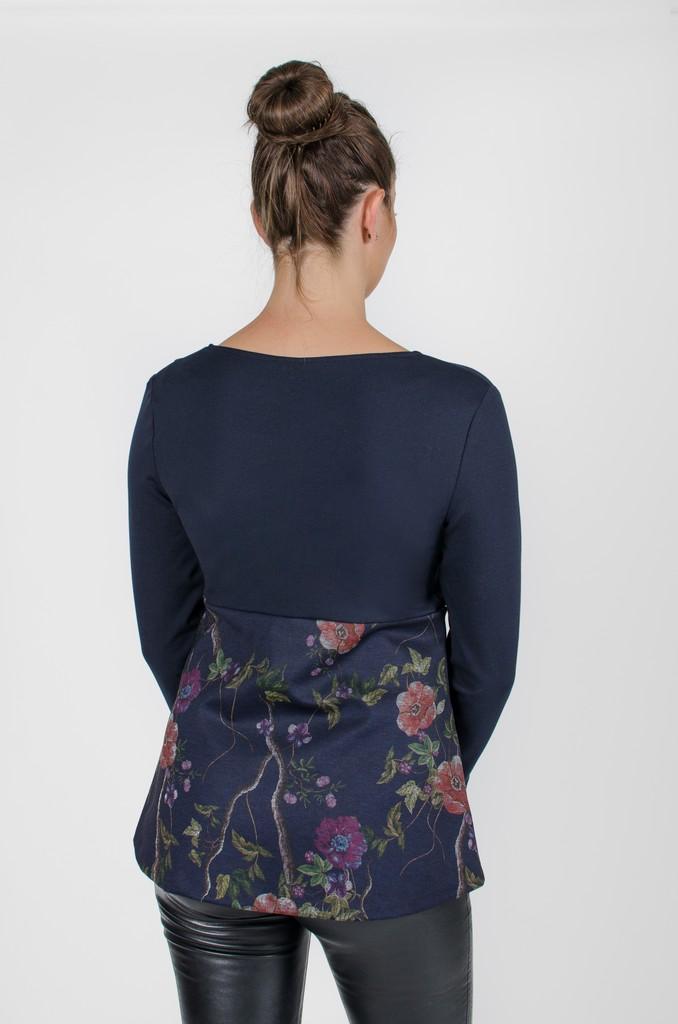 Haut Alexane Bleu Symphonie - vêtements femme - designer québécois en ligne - Monarcky