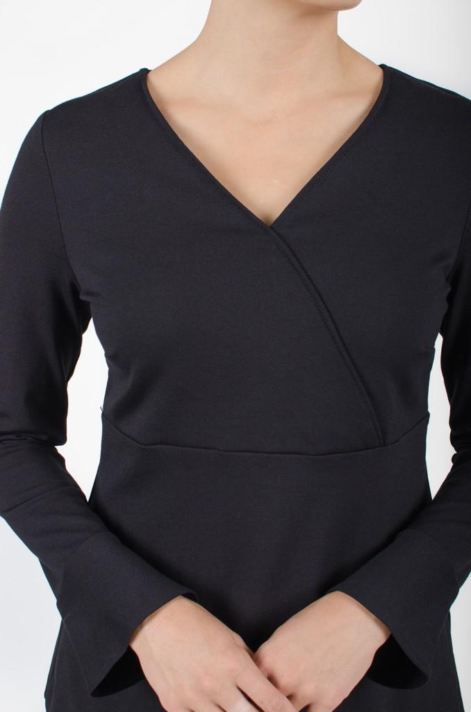 Haut Alexane Nois profond - vêtements femme - designer québécois - Monarcky
