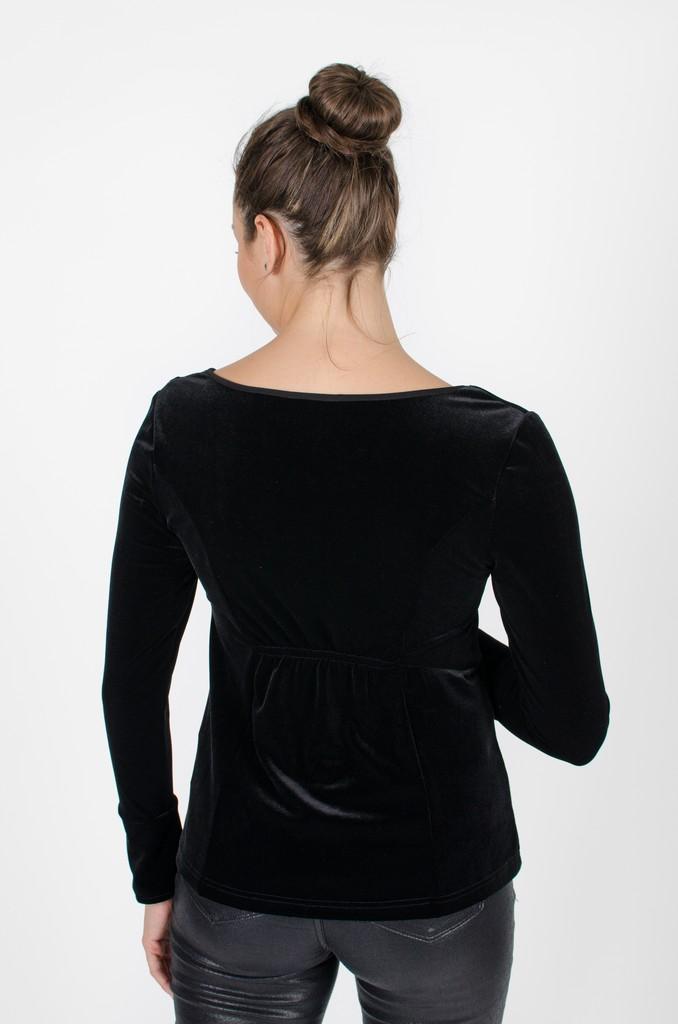 Haut Charlotte Noir profond - vêtements femme en ligne - designer québécois mode - Monarcky