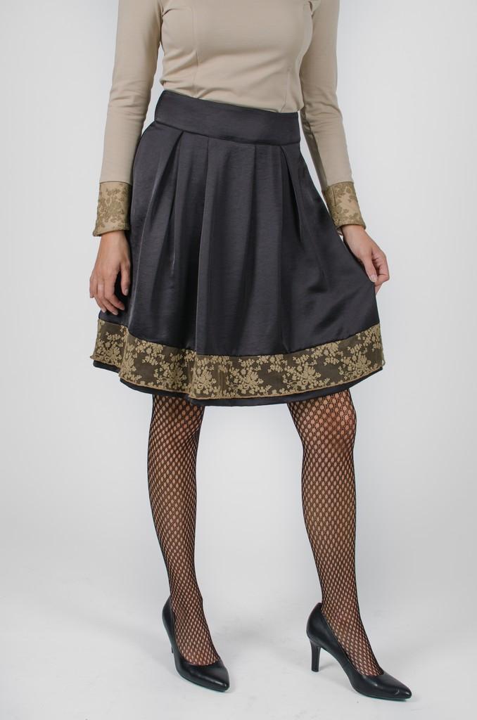 Jupe Alice noir profond - vêtement femme automne-hiver 2020 - Monarcky