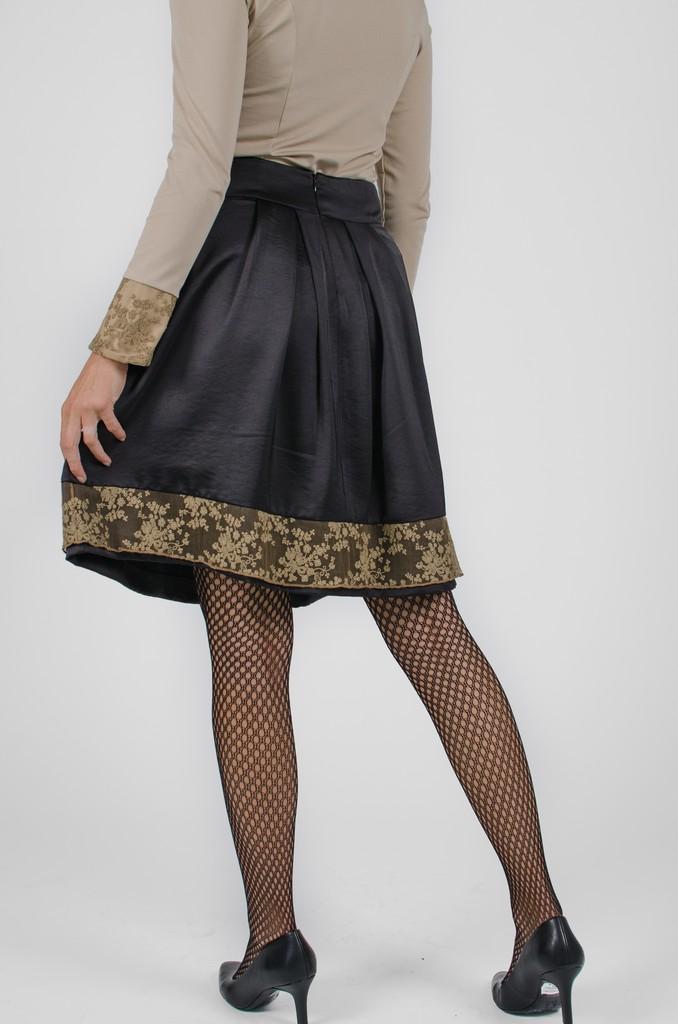 Jupe Alice noir profond - vêtements pour femmes - designer Montréal - Monarcky