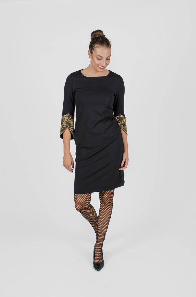 Robe Margaret noir profond - vêtement femme automne-hiver 2020 - Monarcky