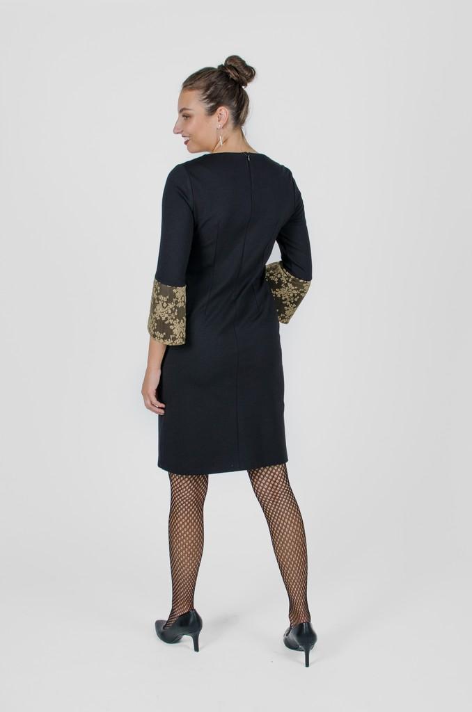 Robe Margaret noir profond - vêtements québécois - designer de mode - Monarcky