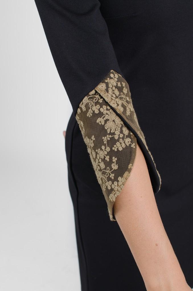 Robe Margaret noir profond - vêtements pour femmes - designer Montréal - Monarcky