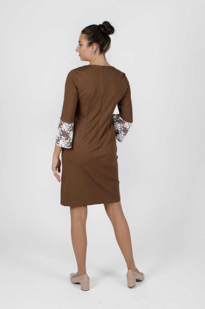Robe Margaret couleur terre - designer québécois - boutique en ligne vêtements femme - Monarcky
