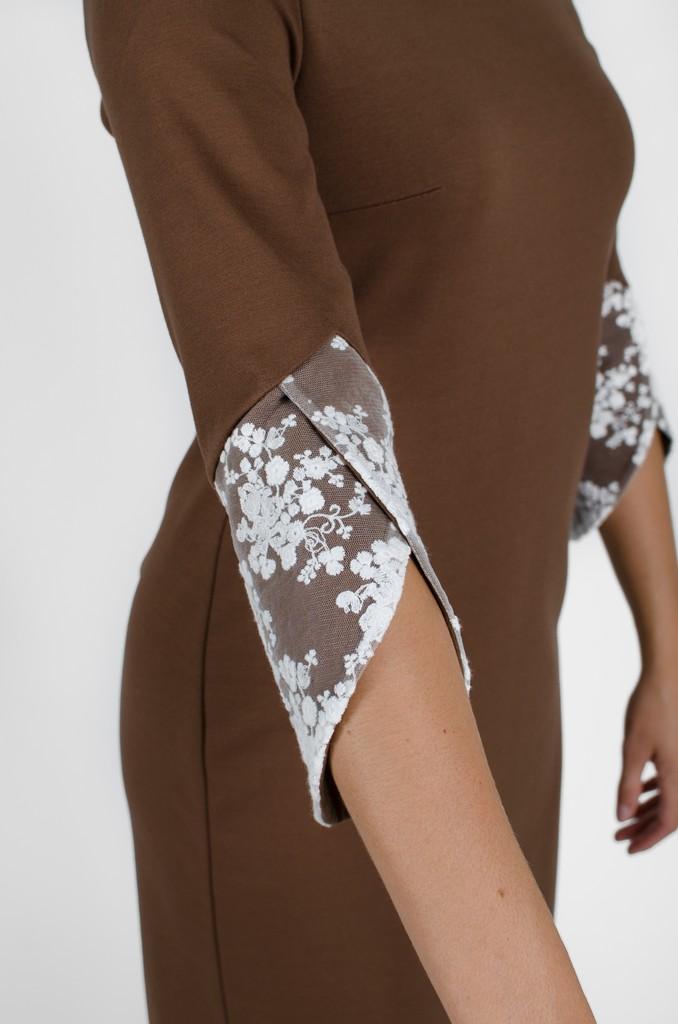 Robe Margaret couleur terre - vêtements fait au Québec - designer de mode - Monarcky