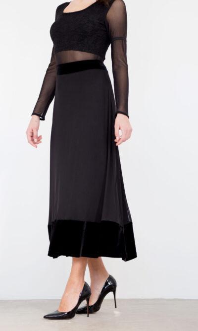 Jupe Joséphine - noir profond - vêtements québécois - designer de mode - Monarcky