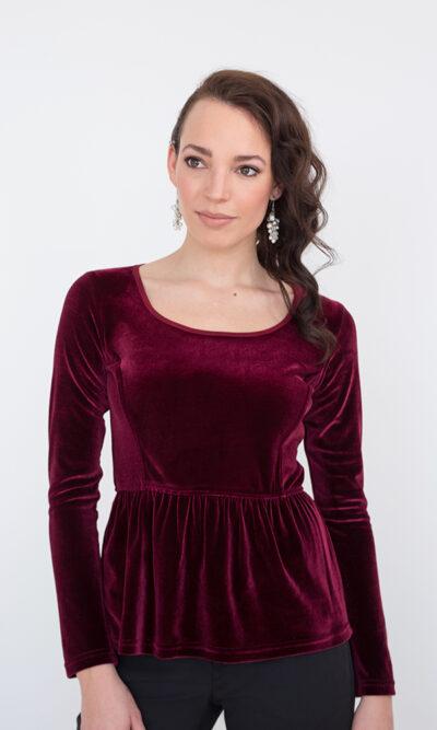 Haut Victoria Vin de Bourgogne - designer québécois - boutique en ligne vêtements femme - Monarcky