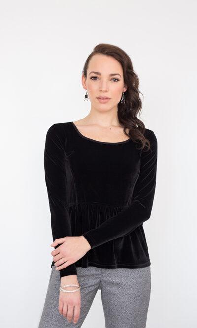 Haut Victoria Noir Profond - vêtements fait au Québec - designer québécois en ligne - Monarcky