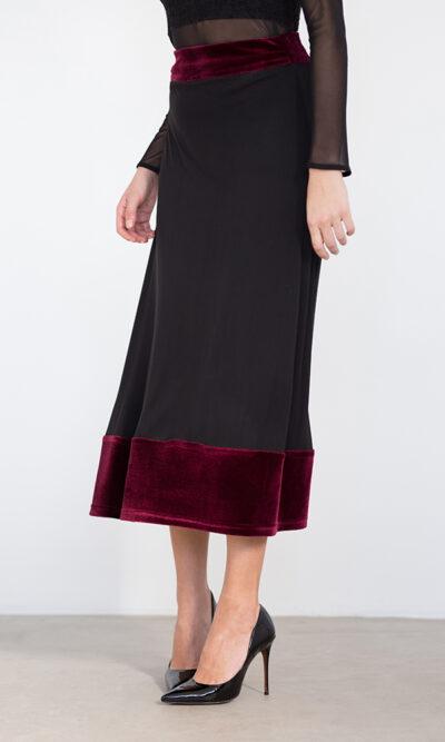 Jupe Joséphine Vin de Bourgogne - vêtements pour femmes - designer québécois en ligne - Monarcky