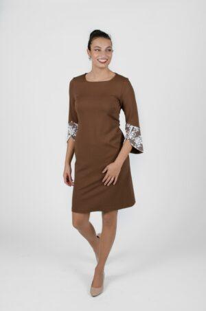 Robe Margaret Terre - vêtements québécois - designer de mode - Monarcky