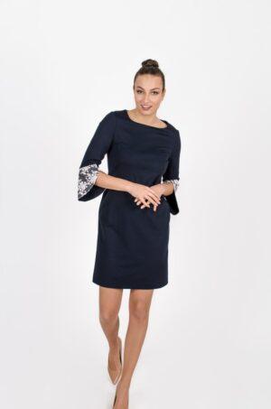 Robe Margaret Bleu Symphonie - vêtements pour femmes - designer Montréal - Monarcky