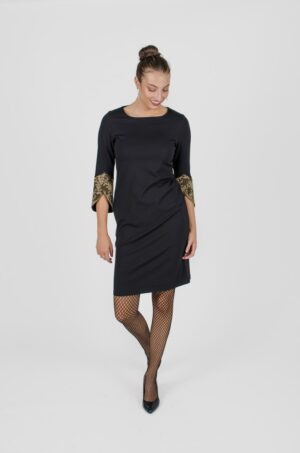 Robe Margaret Noir Profond - - vêtements femme - designer québécois - Monarcky