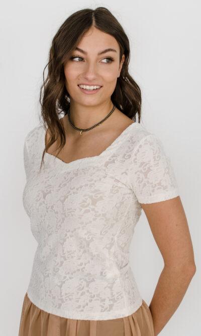 Chandail Isabeau - blanc crème | designer québécois - boutique en ligne vêtements femme - Monarcky