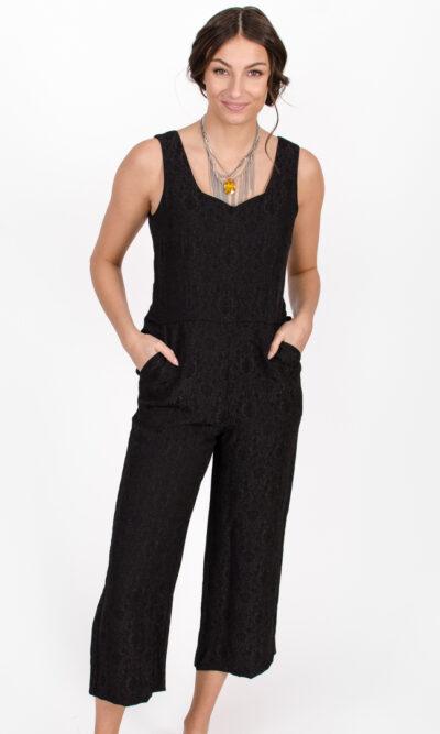 Combinaison Constance - noir profond | designer québécois pour femme - boutique en ligne - Monarcky