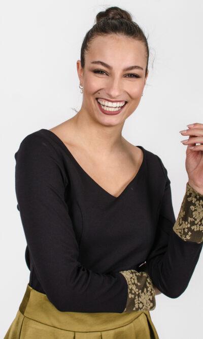 Chandail Mary - noir | designer québécois - boutique en ligne vêtements femme - Monarcky