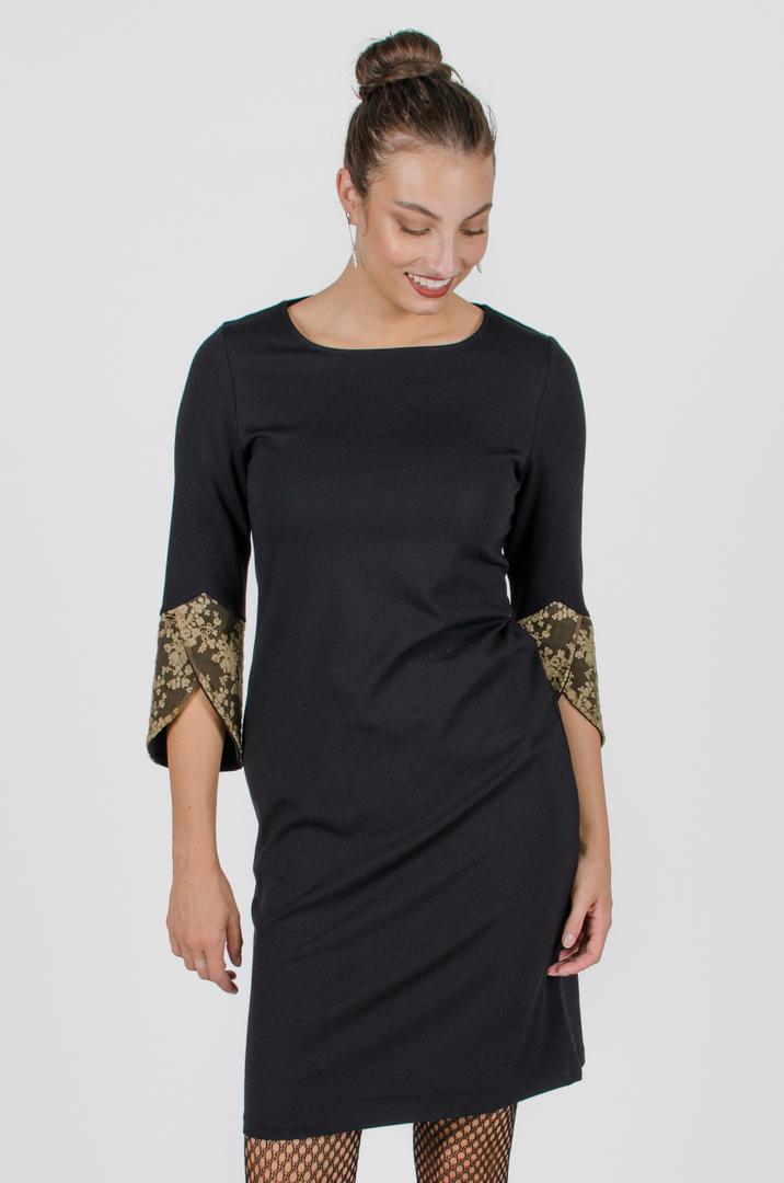 Robe Margaret - noir profond | vêtements pour femmes - designer québécois en ligne - Monarcky