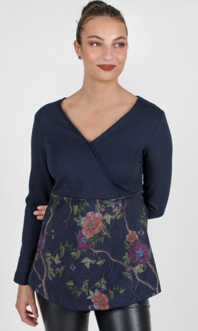 Haut Alexane - bleu symphonie | designer québécois pour femme - boutique en ligne - Monarcky