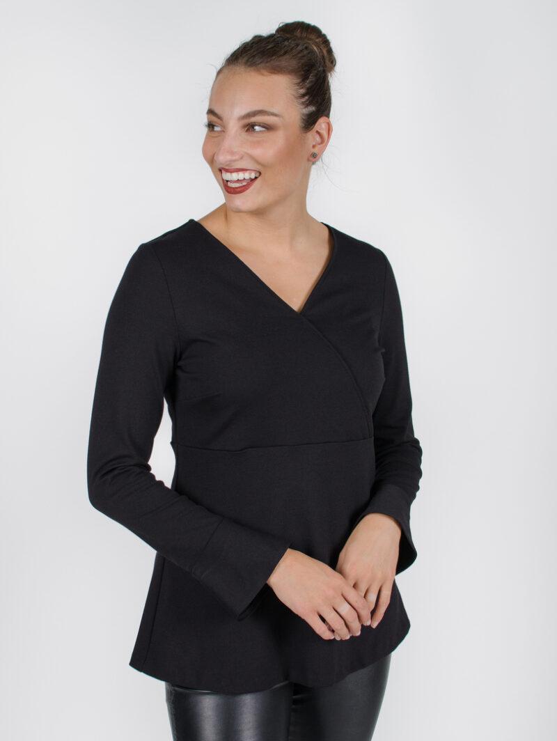 Haut Alexane -noir | vêtements pour femmes - designer québécois en ligne - Monarcky