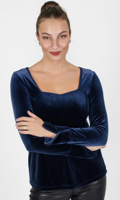 Haut Charlotte - bleu royal | vêtements québécois - designer québécois en ligne - Monarcky