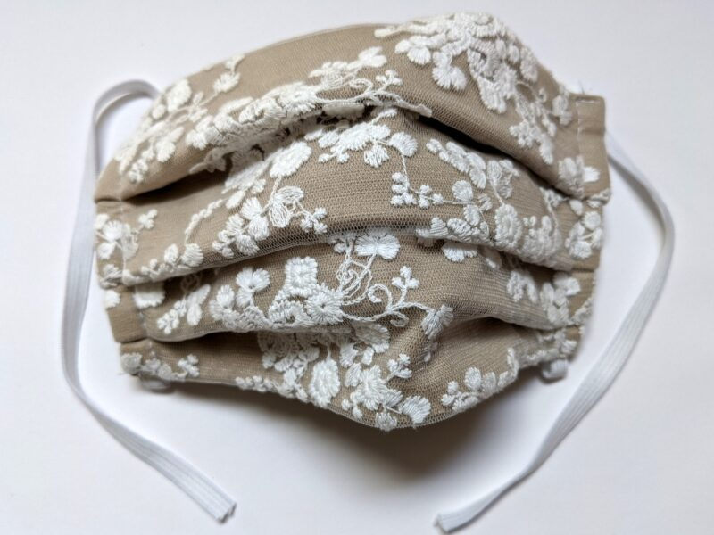 Masque Marylin - beige crème | designer québécois pour femme - boutique en ligne - Monarcky