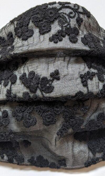 Masque Marylin - gris noir   designer québécois pour femme - boutique en ligne - Monarcky