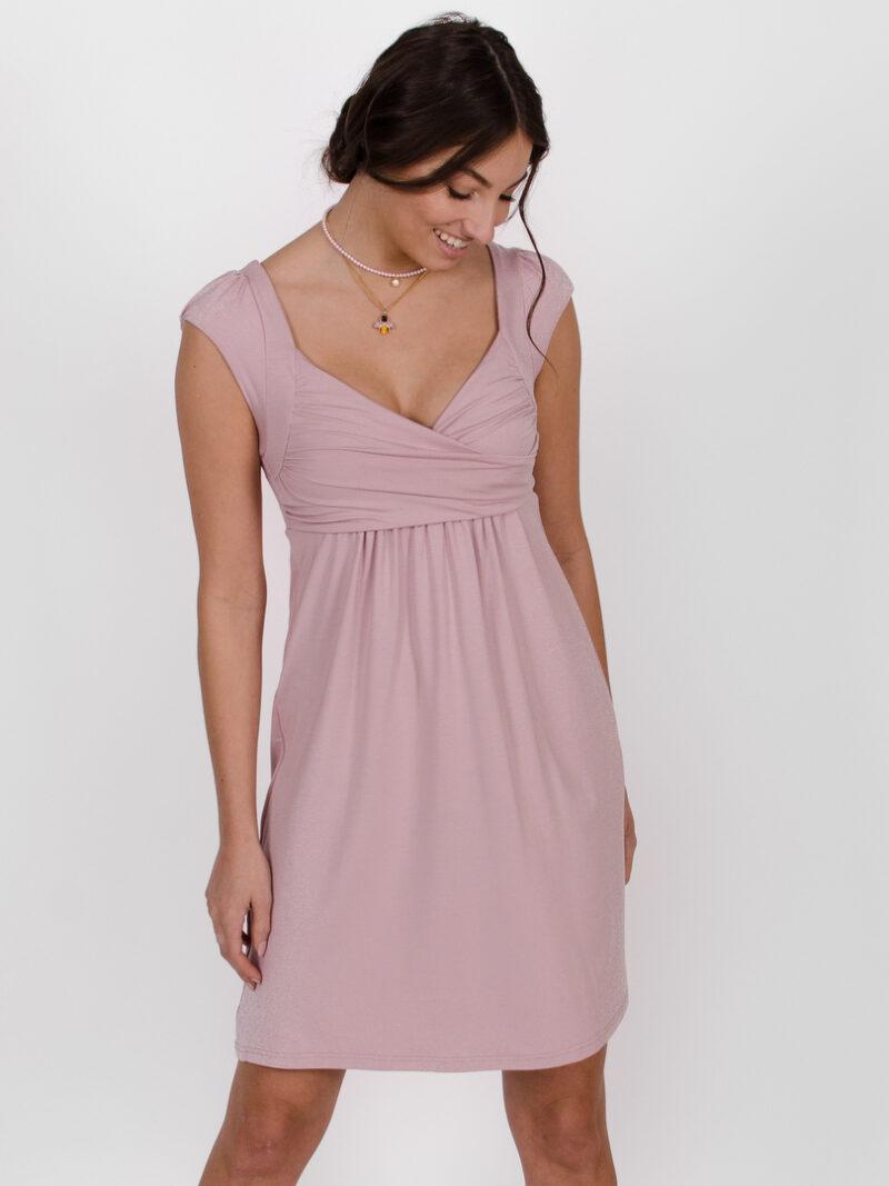 Robe Aliénor - Rose fleur | vêtements pour femmes - designer québécois en ligne - Monarcky