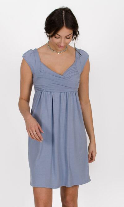 Robe Aliénor - Bleu Azur | designer québécois vêtements femme - boutique en ligne - Monarcky