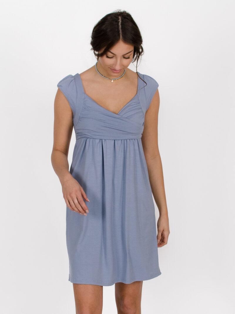 Robe Aliénor - Bleu Azur   designer québécois vêtements femme - boutique en ligne - Monarcky