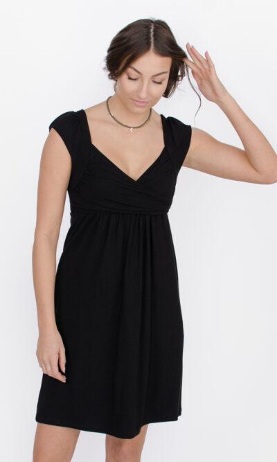 Robe Aliénor - Noir profond | vêtements pour femmes - designer québécois en ligne - Monarcky