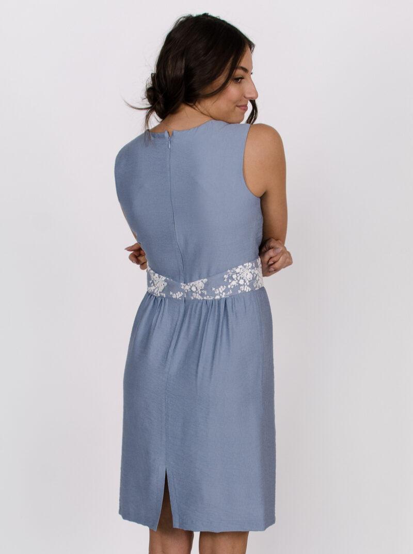 Robe Anne de Kiev - Bleu Azur | vêtements québécois - designer québécois en ligne - Monarcky