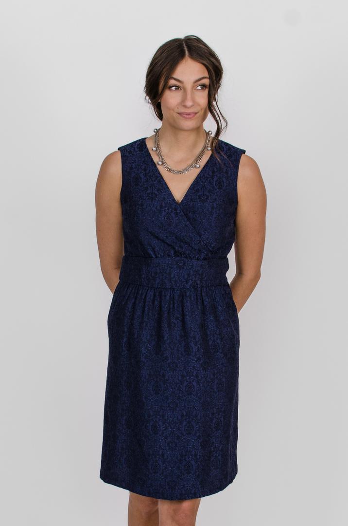 Robe Anne de Bretagne - bleu symphonie | vêtements pour femmes - designer québécois en ligne - Monarcky
