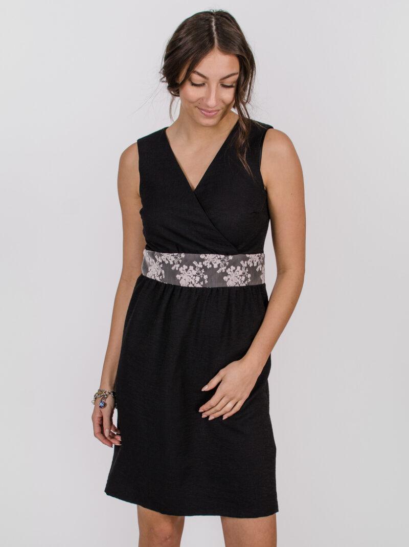 Robe Anne de Kiev - Noir profond | designer québécois pour femme - boutique en ligne - Monarcky