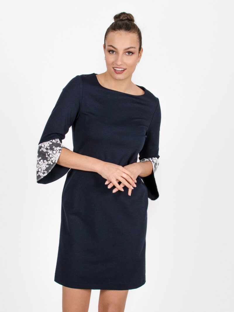 Robe Margaret - bleu symphonie | vêtements pour femmes - designer québécois en ligne - Monarcky
