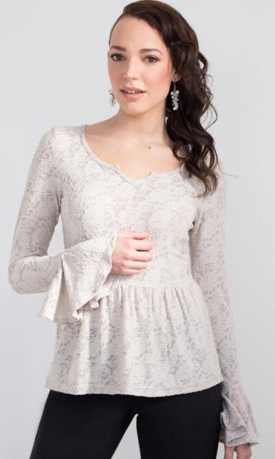 Haut Juliette beige rosé | Designer Québécois de vêtements pour femme | Monarcky- Boutique en ligne