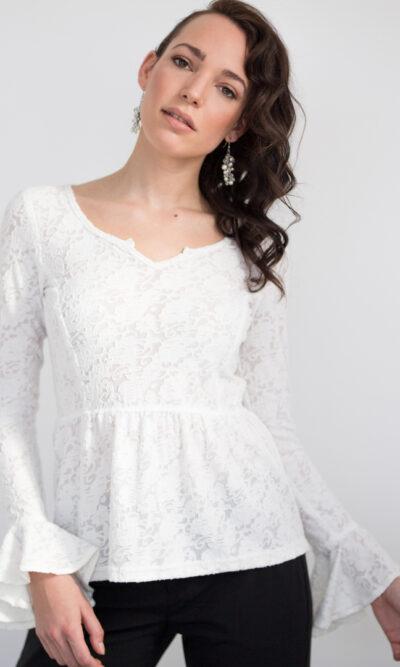 Haut Juliette blanc neige | Designer Québécois de vêtements pour femme | Monarcky- Boutique en ligne