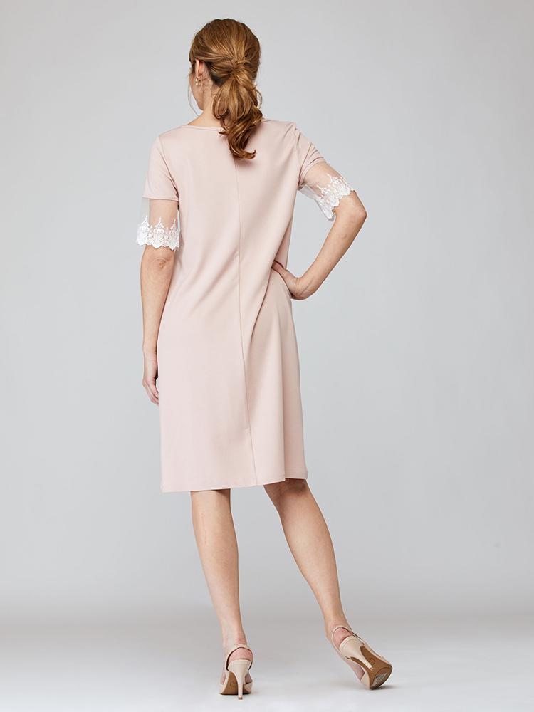 Robe Mafalda dos, rose clair, vêtements pour femmes   Boutique de vêtement québécois en ligne   Monarcky, designer québécois