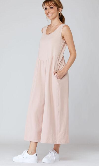 Combinaison Catherine devant, rose clair, vêtements pour femmes | Boutique de vêtement québécois en ligne | Monarcky, designer québécois