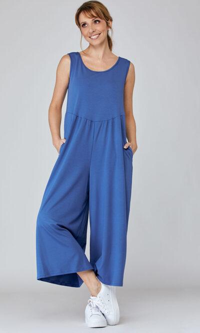 Combinaison Catherine devant, bleu ciel, vêtements pour femmes | Boutique de vêtement québécois en ligne | Monarcky, designer québécois