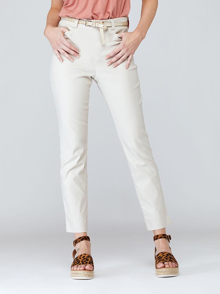 Pantalon Azalée devant, beige   Boutique de vêtement québécois en ligne   Monarcky, designer québécois