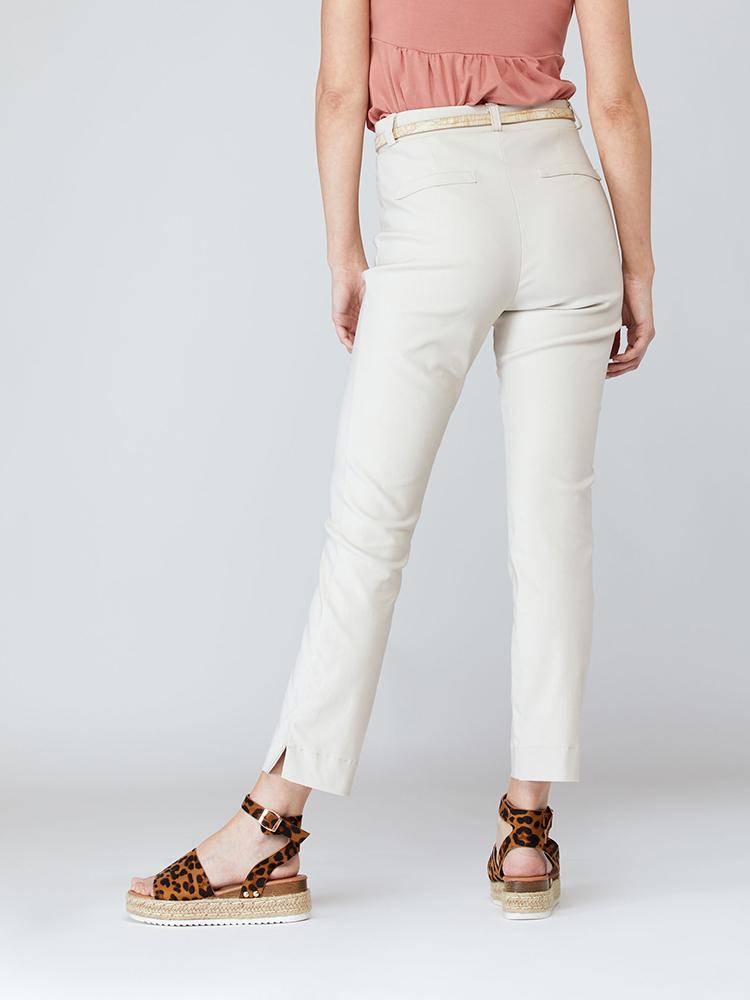 Pantalon Azalée dos, beige   Boutique de vêtement québécois en ligne   Monarcky, designer québécois