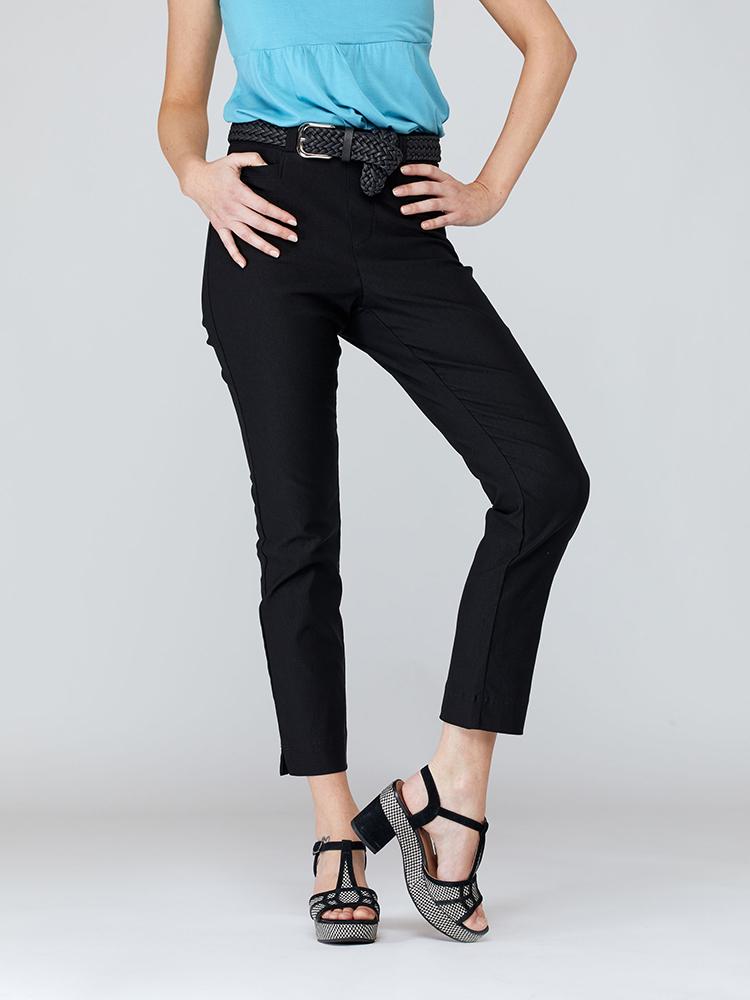 Pantalon Azalée devant, noir profond | Boutique de vêtement québécois en ligne | Monarcky, designer québécois
